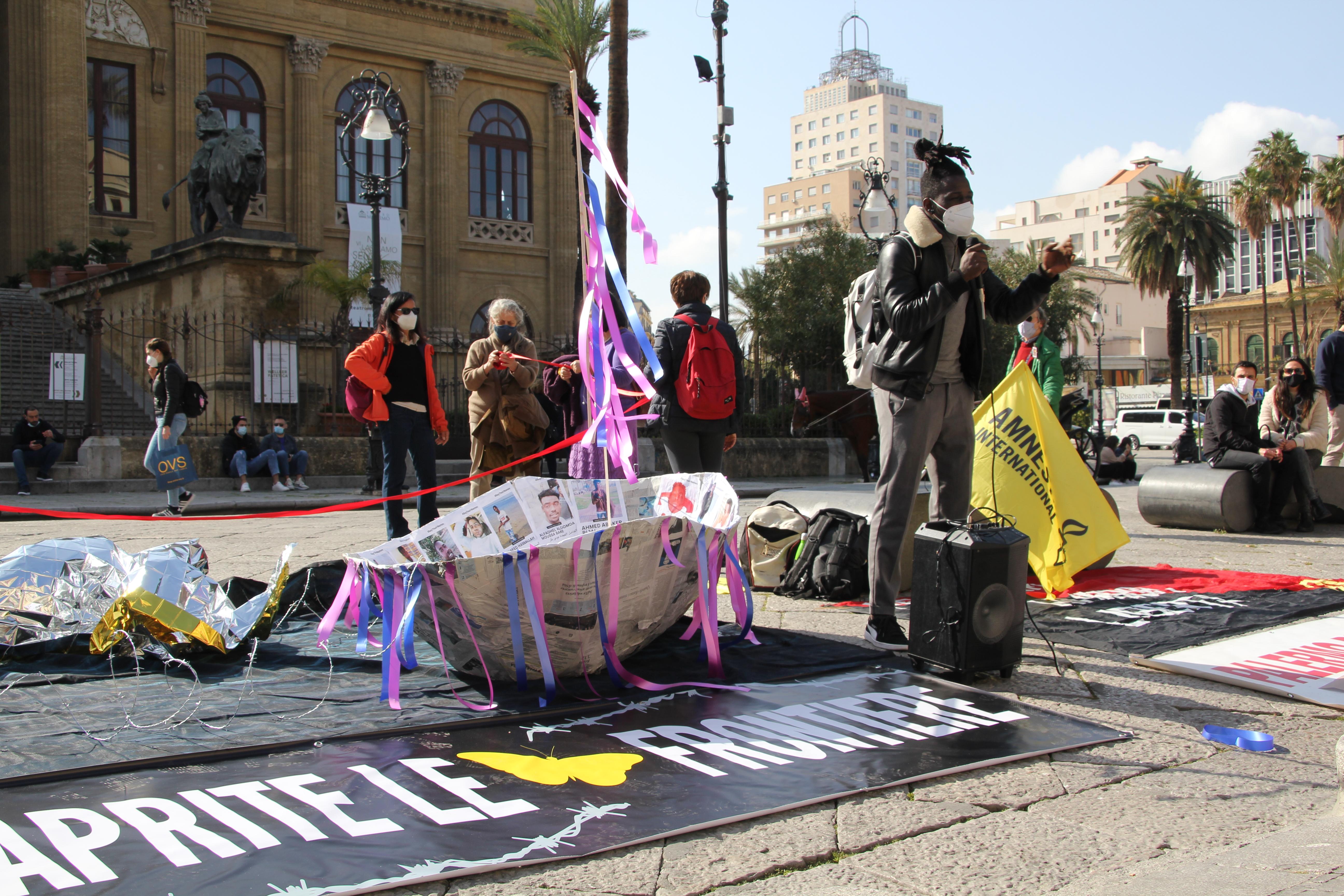 Aktion 06. März 2021 gegen die Kriminlisierung der Solidarität