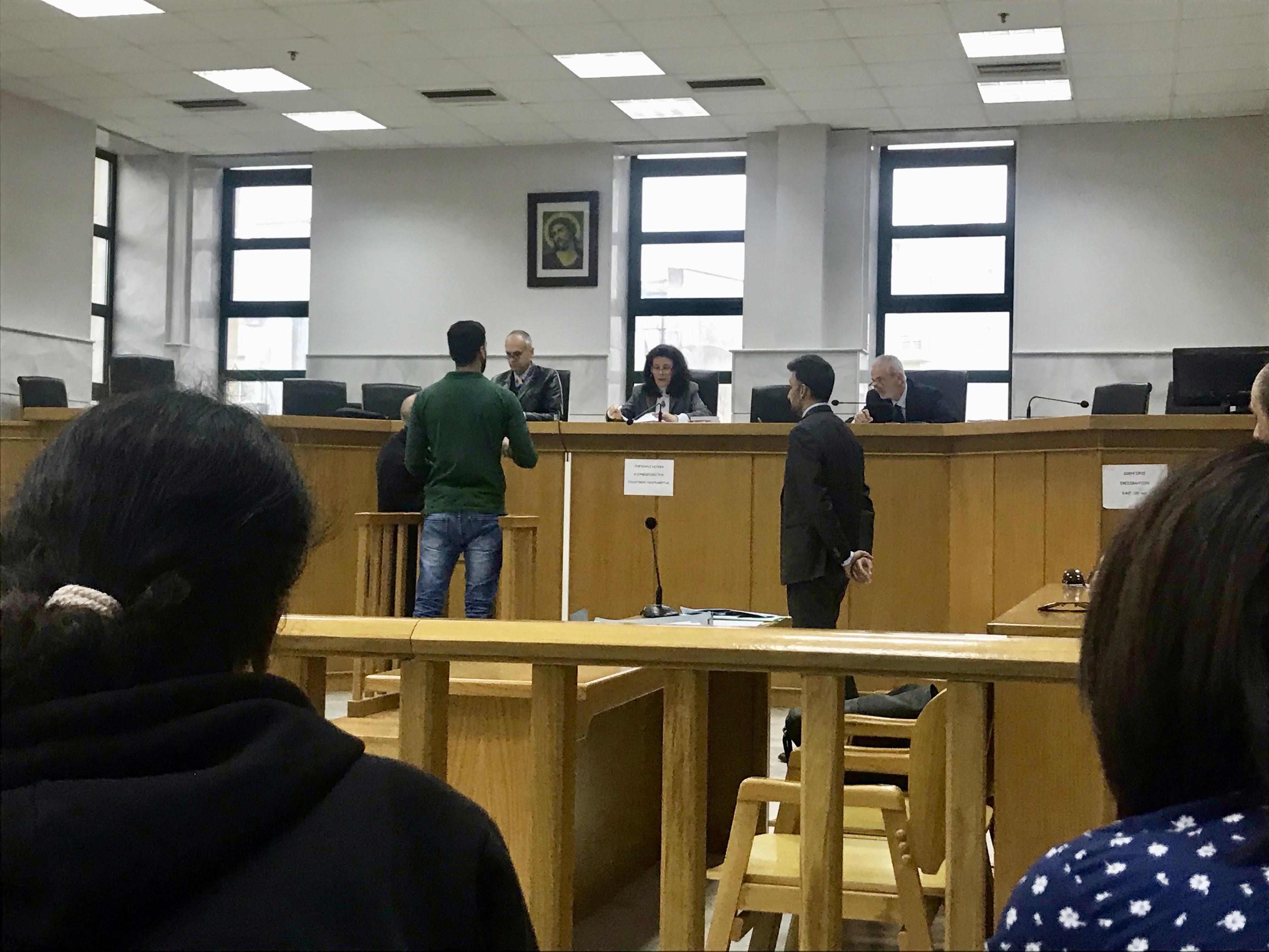 Hamza Haddi im Zeugenstand