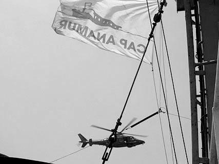 Ein Hubschrauber der