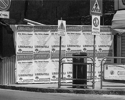 Plakatwand in Agrigento.