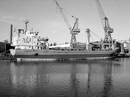 Januar 2004: Der Frachter