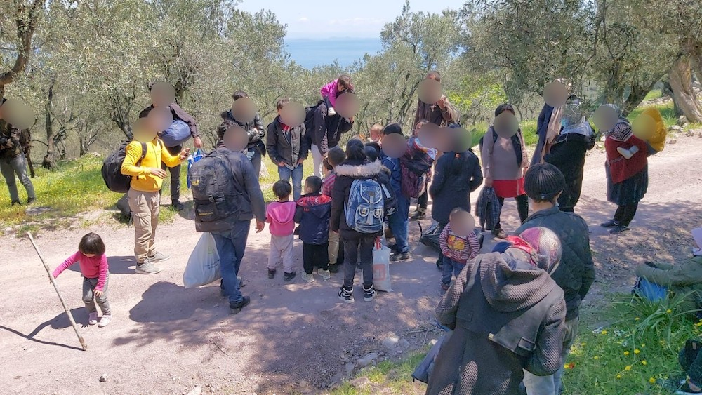 Lesbos:Illegal push-backs from land