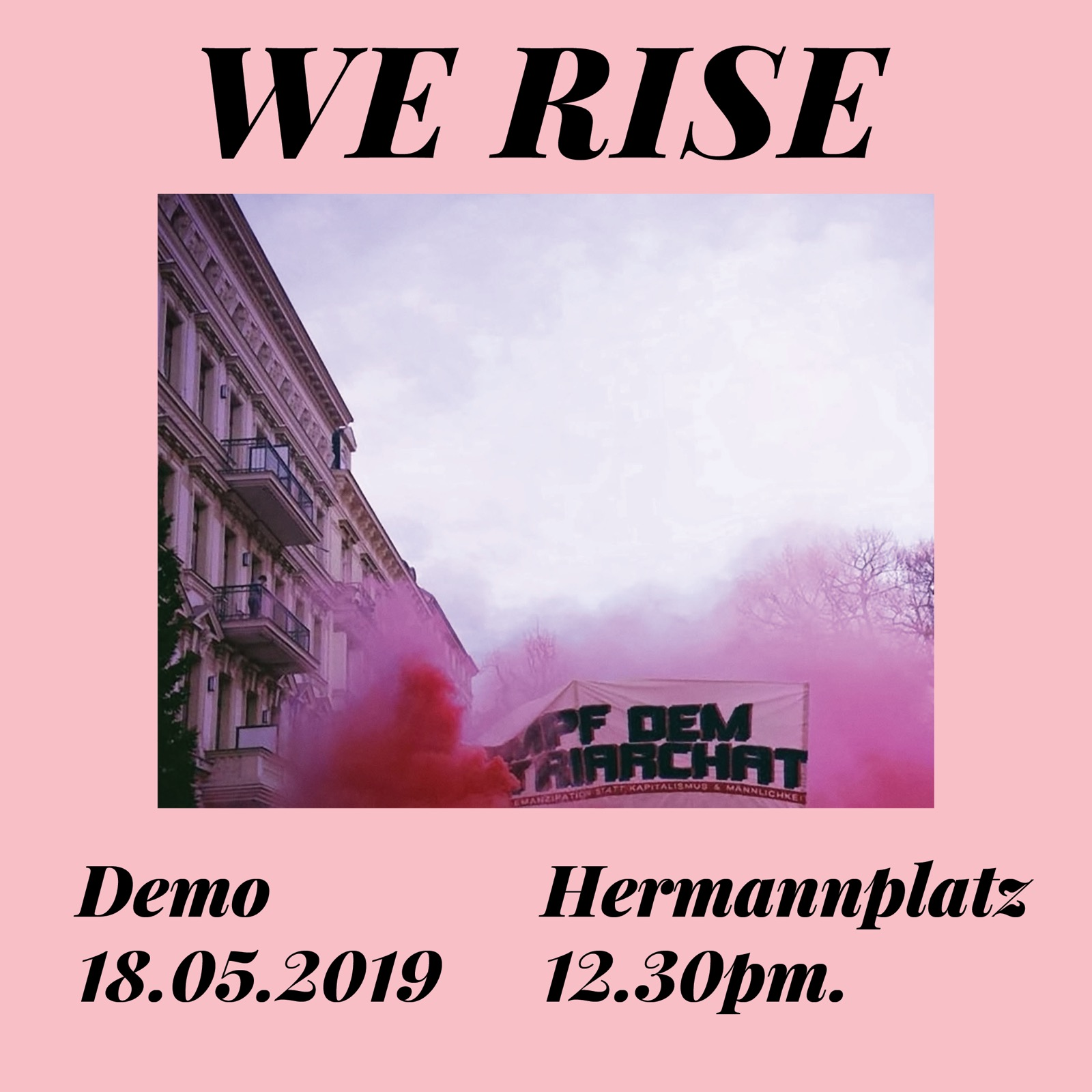 WeRise Demo against sexual harassment